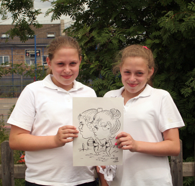 Melisa &amp Ayse with Drawing